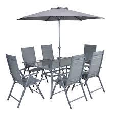 Naples 8 Piece Rectangular Patio Set