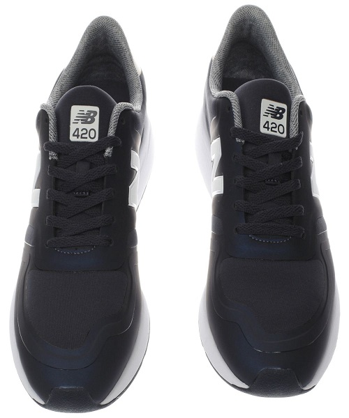 00e46237e6 New Balance navy & white 420 v1 trainers- Available at Hammonds ...