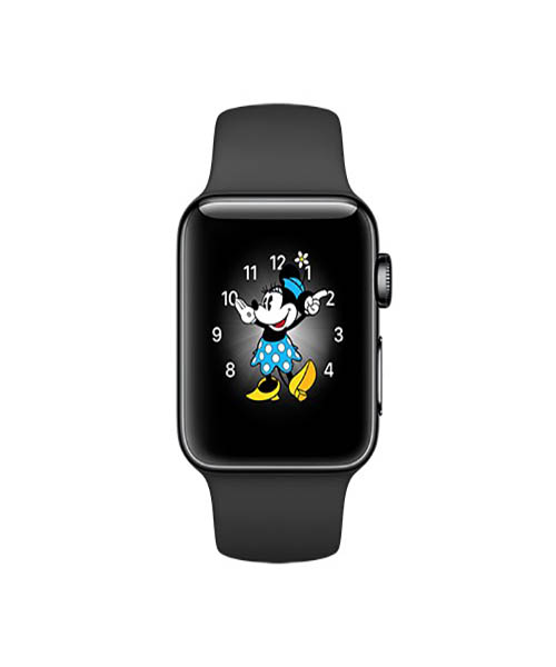 size 40 9dc00 a73da Apple Watch Series 2 42mm Space Black Stainless Steel Case Space Black Band
