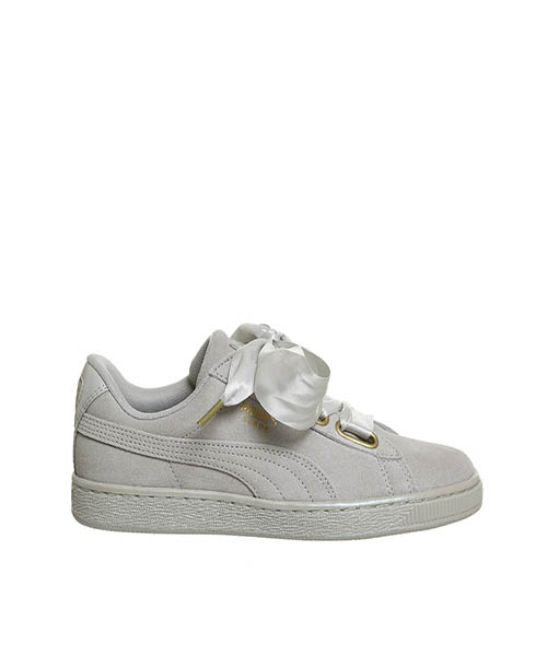 newest collection 98836 6ccf4 Puma Suede Heart Lace Trainers Grey