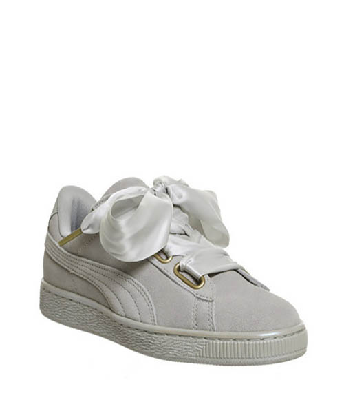 Puma Suede Heart Lace Trainers Grey - Hammonds Online Store 2002d1f76